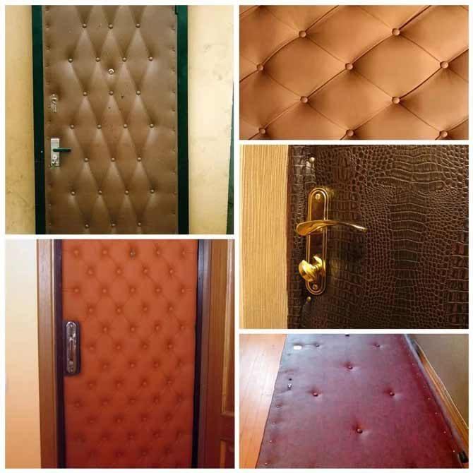 Как обшить дермантином дверь