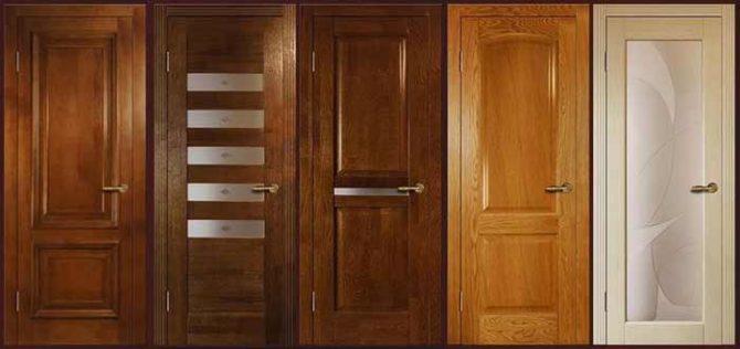 Виды межкомнатных дверей и их конструкции