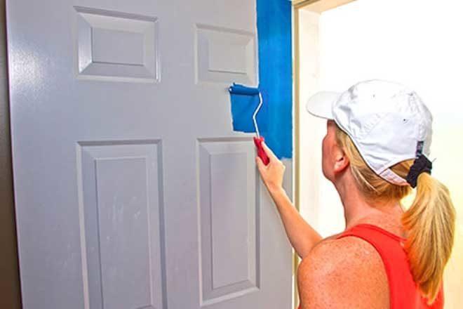 Покраска деревянных дверей своими руками