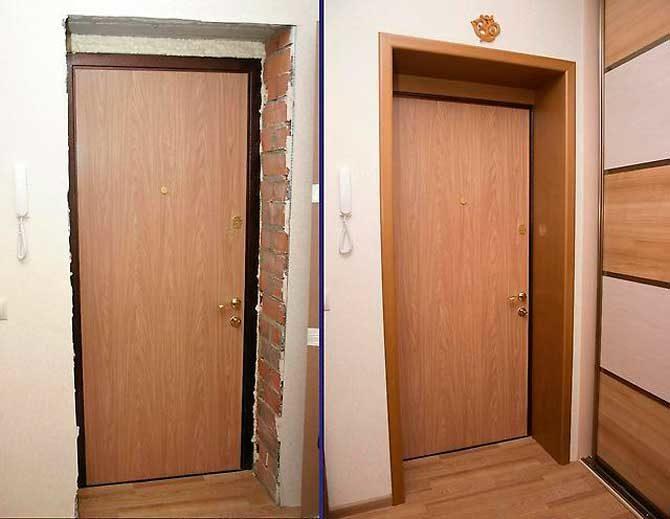 Как правильно ставить доборы на дверь
